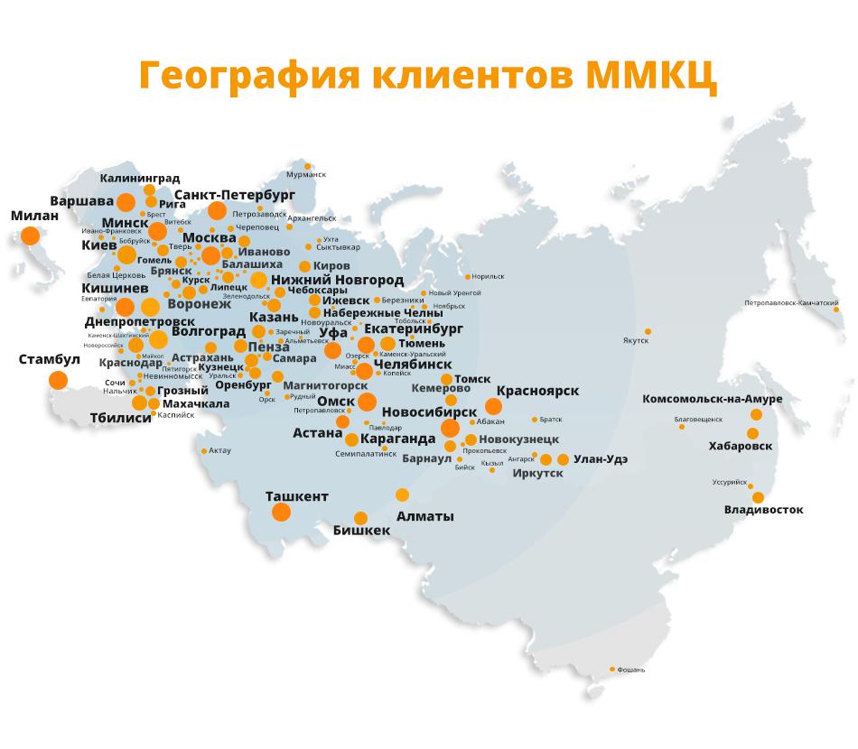 География клиентов ММКЦ